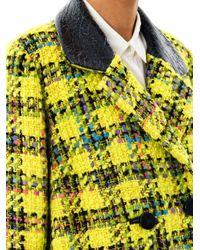 ROKSANDA Yellow Elwood Giant Plaid Tweed Coat
