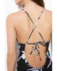Stussy Black Ruffle Swimsuit