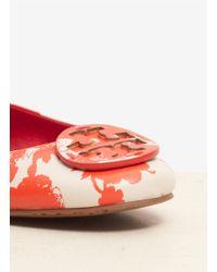 Tory Burch - Multicolor Reva Printed Leather Ballerina Flats - Lyst