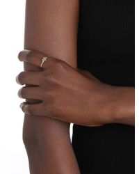 Sarah Chloe - Metallic Stackable Shea Initial Ring  - Lyst