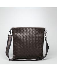 Bottega Veneta Brown Ebano Intrecciato Vn Cross Body Bag for men