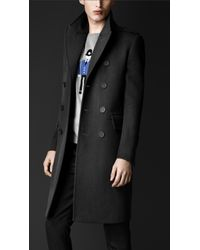 Burberry Gray Cavalry Twill Military Topcoat for men