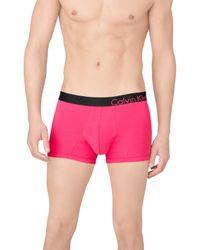 Calvin Klein | Red Bold Cotton Trunks Online Only for Men | Lyst