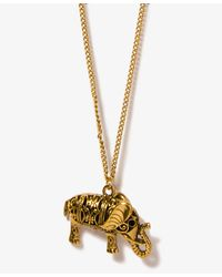 Forever 21 - Metallic Floral Elephant Necklace - Lyst