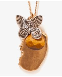 Forever 21 | Metallic Butterfly Charm Necklace | Lyst
