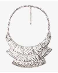 Forever 21 | Metallic Dimpled Bib Necklace | Lyst