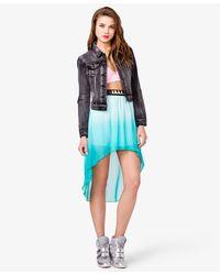Forever 21 - Blue Ombré Highlow Skirt - Lyst