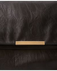 Forever 21 - Black Foldover Faux Leather Clutch - Lyst