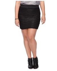 Forever 21 | Black Wavy Stripes Metallic Skirt | Lyst