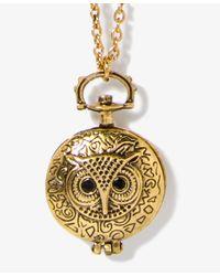 Forever 21 - Metallic Owl Locket Necklace - Lyst