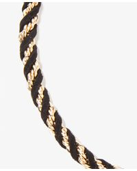 Forever 21 - Metallic Faux Suede Woven Necklace - Lyst