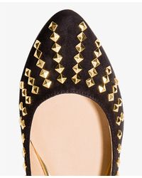 Forever 21 - Black Pyramid Studded Ballet Flats - Lyst