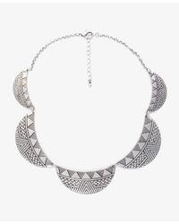 Forever 21 | Metallic Cutout Peter Pan Collar Bib Necklace | Lyst