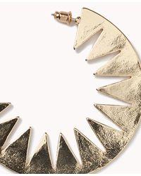 Forever 21 - Metallic Cutout Sunburst Crescent Hoops - Lyst