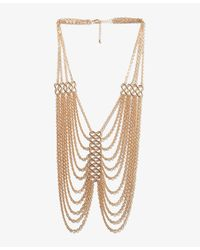 Forever 21 - Metallic Draped Chain Necklace - Lyst