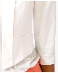 Forever 21 White Cropped Shawl Collar Blazer