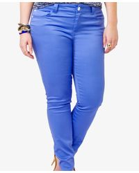 Forever 21 Blue Colored Skinny Jeans