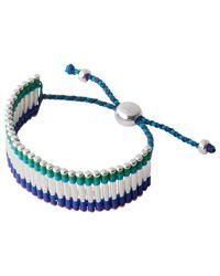 Links of London Multicolor Woven Cuff Silver Friendship Bracelet