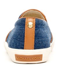 MICHAEL Michael Kors Blue Boerum Denim Slipon Sneaker for men