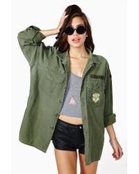 Nasty Gal - Green Sweet Surrender Camo Jacket - Lyst