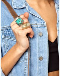 River Island   Multicolor Chunky Stone Ring Pack   Lyst