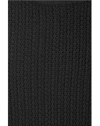 Alexander Wang Black Crocheted Tank
