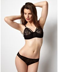 ASOS Black Kallisti By Marios Schwab For Inc Lace Harness Soft Triangle Bra