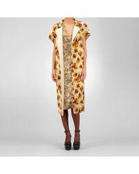 Bottega Veneta - Yellow Cashmere Tulip Print Coat - Lyst