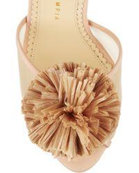 Charlotte Olympia Natural Pomeline Crepe De Chine Sandals