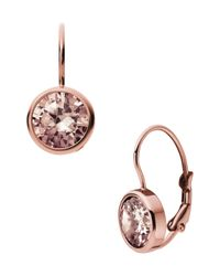 Michael Kors | Metallic Leverback Earrings Rose Golden | Lyst