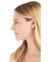 Noir Jewelry - Metallic Superstar Stud Ear Creeper Earrings - Lyst