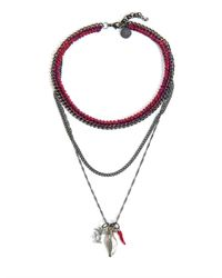 Venessa Arizaga | Red Into Dust Multi-Chain Necklace | Lyst