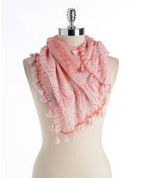 Eileen Fisher - Pink Color-field Shibori Silk Georgette Scarf - Lyst