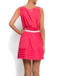 Mango | Pink Flared Skirt Dress | Lyst