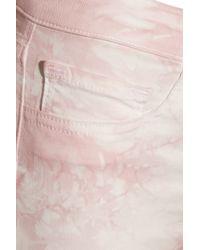J Brand | Pink Twisted Tiedye Midrise Skinny Jeans | Lyst