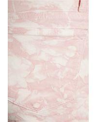 J Brand - Pink Twisted Tiedye Midrise Skinny Jeans - Lyst