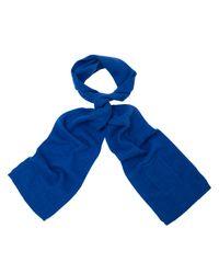 John Lewis Blue Wool Knitted Tech Scarf