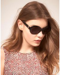 Moschino Black Sunglasses with Heart Arm Detail for men