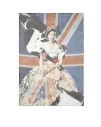 Alexander McQueen - Blue Vintage Queen Chiffon Scarf - Lyst