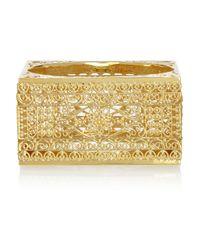 Isharya - Metallic Gold-Plated Filigree Bangle - Lyst