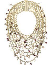 Rosantica - Metallic Onde Golddipped Multistone Necklace - Lyst