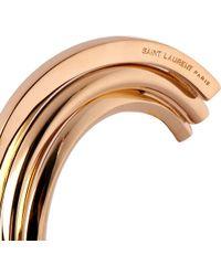 Saint Laurent - Metallic Saint Laurent Construction Bracelet for Men - Lyst