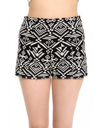 AKIRA - Black Tribal Woven Shorts - Lyst
