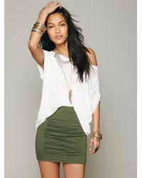 Free People   Green Womens High Waist Scrunch Skirt   Lyst