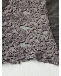 Free People Gray Pieced Lace Scarf