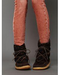 Free People Brown Kern Blanket Boot