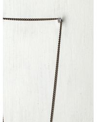 Free People - Brown Trapped in A Bottle Necklace - Lyst