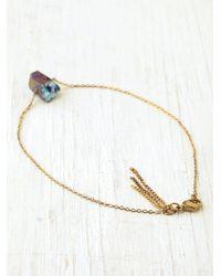Free People Metallic Charm Ankle Bracelet