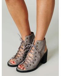 Jeffrey Campbell Gray Minimal Lace Up Heel