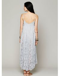 Free People Gray Fp One Victorian Lace Dress